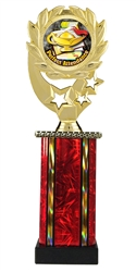Moonbeam Wreath Full Color Perfect Attendance Trophy in 11 Colors - in 3 Sizes