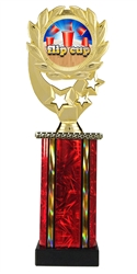 Moonbeam Wreath Full Color Flip Cup Trophy in 11 Colors - in 3 Sizes