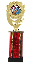Moonbeam Wreath SUN Cheerleading Trophy in 11 Colors - in 3 Sizes