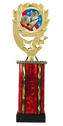 Moonbeam Wreath USA Cheerleading Trophy in 11 Colors - in 3 Sizes