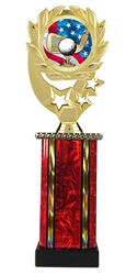 Moonbeam Wreath USA Golf Trophy in 11 Colors - in 3 Sizes