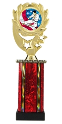 Moonbeam Wreath USA Karate Trophy in 11 Colors - in 3 Sizes