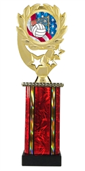 Moonbeam Wreath USA Volleyball Trophy in 11 Colors - in 3 Sizes