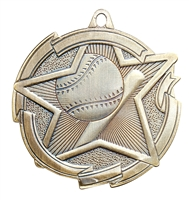 "2-3/8"" Star Baseball Medal MD1702"