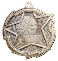"2-3/8"" Star Basketball Medal MD1703"