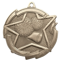 "2-3/8"" Star Cheerleading Medal MD1705"