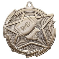 "2-3/8"" Star Football Medal MD1706"
