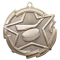 "2-3/8"" Star Hockey Medal MD1710"
