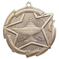 "2-3/8"" Star Lamp of Knowledge Medal MD1712"