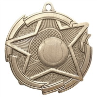 "2-3/8"" Star Tennis Medal MD1715"