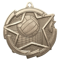 "2-3/8"" Star Volleyball Medal MD1717"
