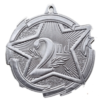 "2-3/8"" Star 2nd Place Medal MD1722"