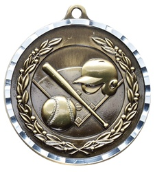 "2"" PREMIUM Diamond-Cut Baseball Medals MDC02"