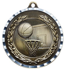 "2"" PREMIUM Diamond-Cut Basketball Medals MDC03"
