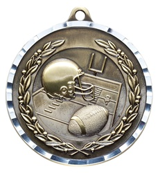 "2"" PREMIUM Diamond-Cut Football Medals MDC06"