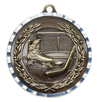 "2"" PREMIUM Diamond-Cut Hockey Medals MDC10"
