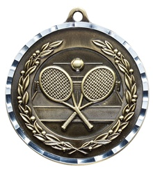 "2"" PREMIUM Diamond-Cut Tennis Medals MDC15"
