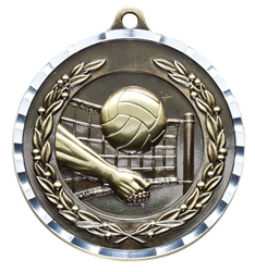 "2"" PREMIUM Diamond-Cut Volleyball Medals MDC17"