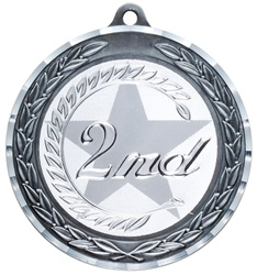 "2-3/4"" Premium Diamond Cut 2nd Place Medal MDC22"