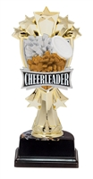 "6-1/2"" All Star Cheerleader Figure on Base Trophy MF3265-ASB335"