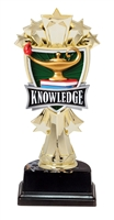 "6-1/2"" All Star Lamp of Knowledge Figure on Base Trophy MF3272-ASB335"