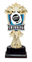 "6-1/2"" All Star Swimming Figure on Base Trophy MF3274-ASB335"