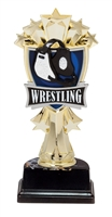 "6-1/2"" All Star Wrestling Figure on Base Trophy MF3278-ASB335"