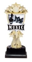 "6-1/2"" All Star Music Figure on Base Trophy MF3279-ASB335"