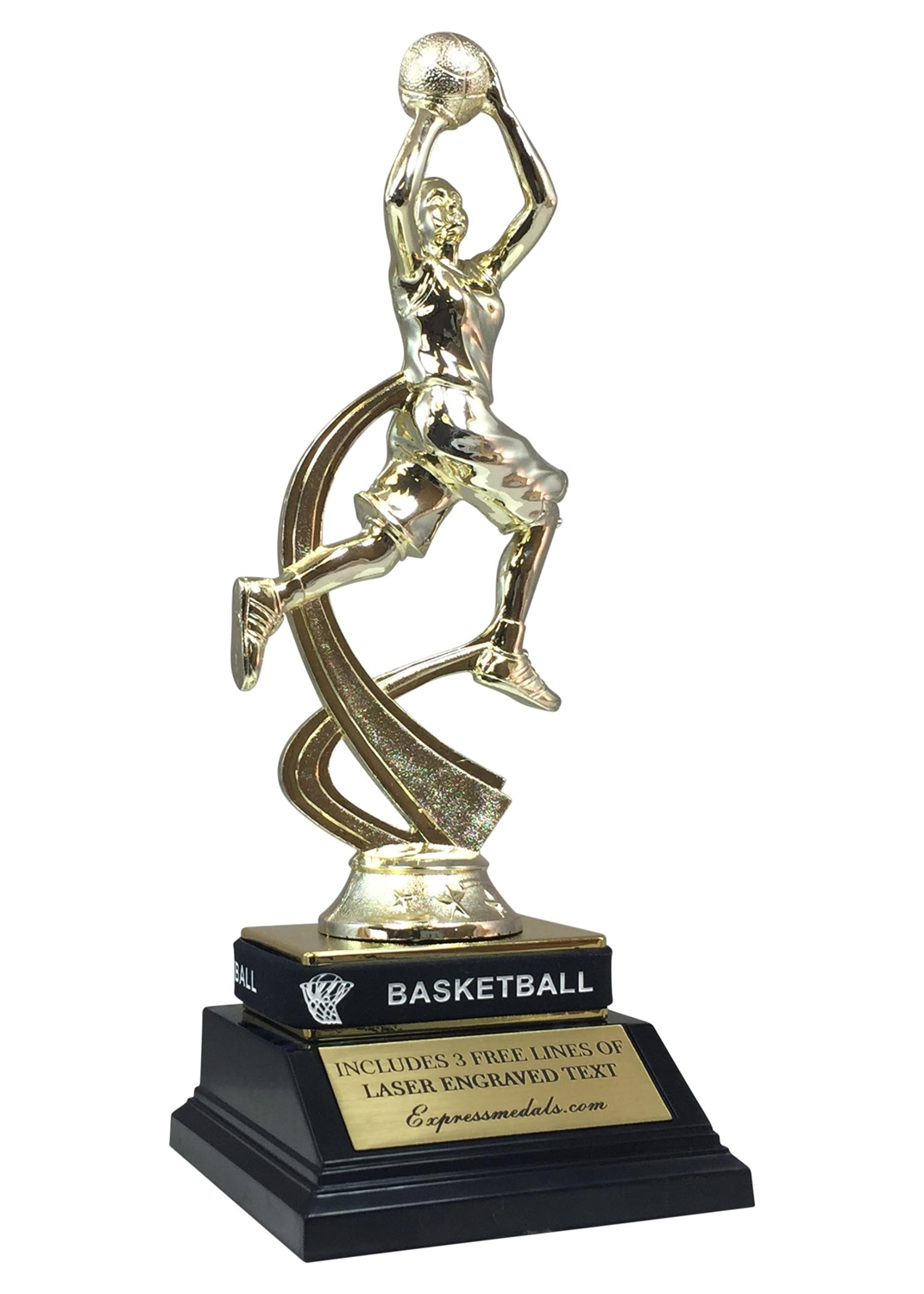 Female Basketball Trophy with Wrist Band