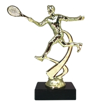 "6"" Male Tennis Figure on Marble Base Trophy MF4520-MB"