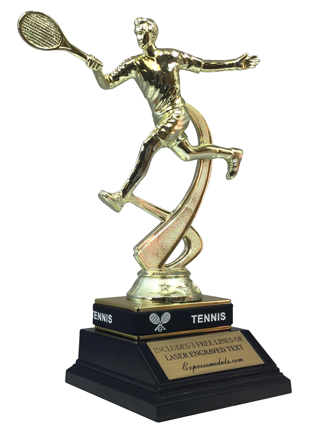 Male Tennis Trophy with Wrist Band