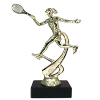 "6"" Female Tennis Figure on Marble Base Trophy MF4521-MB"