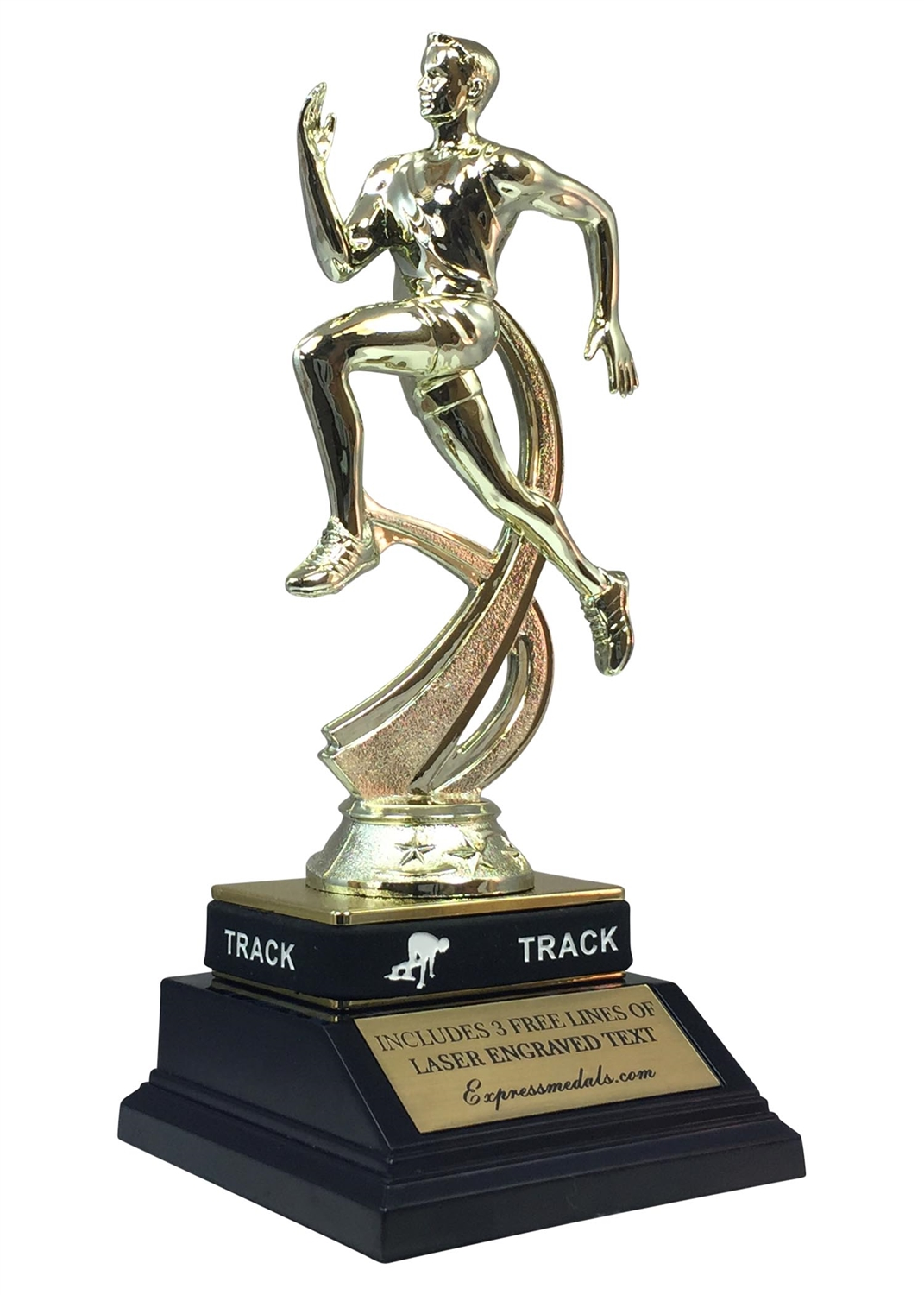 Male Track Trophy with Wrist Band