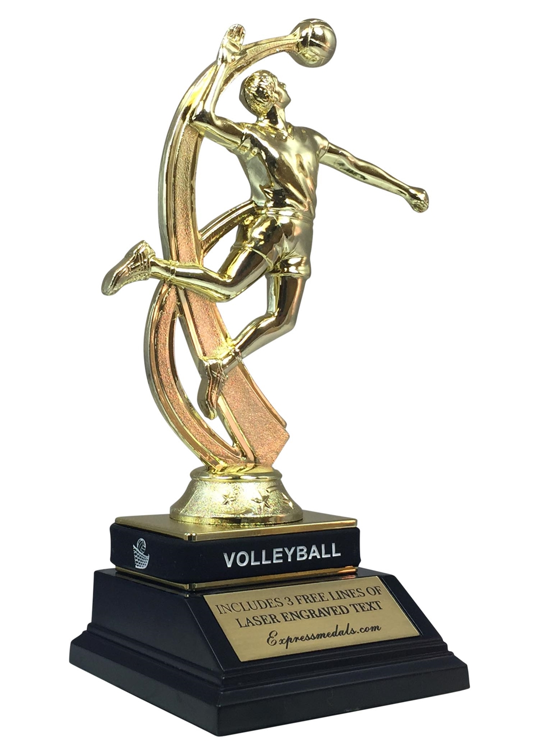 Male Volleyball Trophy with Wrist Band