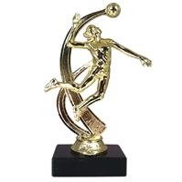 "6-1/2"" Female Volleyball Figure on Marble Base Trophy MF4526-MB"