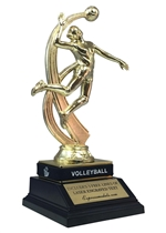 Female Volleyball Trophy with Wrist Band