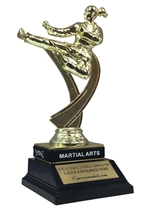 Female Martial Arts Trophy with Wrist Band