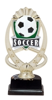 "6-1/2"" Meridian Soccer Figure on Base Trophy MF773-ASB335"