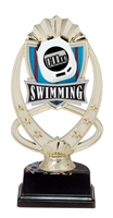 "6-1/2"" Meridian Swimming Figure on Base Trophy MF774-ASB335"