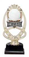 "6-1/2"" Meridian Volleyball Figure on Base Trophy MF777-ASB335"
