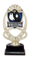 "6-1/2"" Meridian Wrestling Figure on Base Trophy MF778-ASB335"