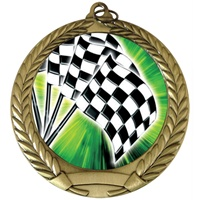 "2-3/4"" Full Color Series Racing Flags Medal MM292-FCL-20"