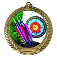 "2-3/4"" Archery Holographic Mylar Medal MM292-FCL-404"