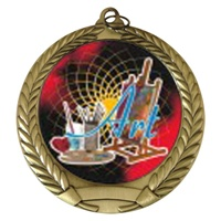 "2-3/4"" Art Holographic Mylar Medal MM292-FCL-405"