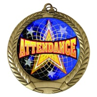 "2-3/4"" Attendance Holographic Mylar Medal MM292-FCL-406"
