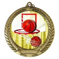 "2-3/4"" Basketball Holographic Mylar Medal MM292-FCL-411"