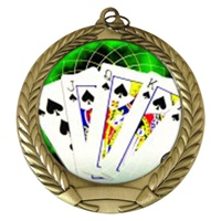 "2-3/4"" Poker Holographic Mylar Medal MM292-FCL-432"