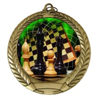 "2-3/4"" Chess Holographic Mylar Medal MM292-FCL-440"