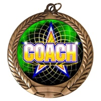 "2-3/4"" Full Color Series Coach Medal MM292-FCL-442"