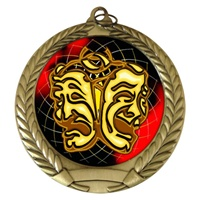 "2-3/4"" Drama Holographic Mylar Medal MM292-FCL-462"